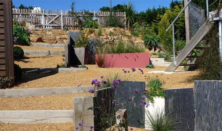 jardin contemporain en espaliers