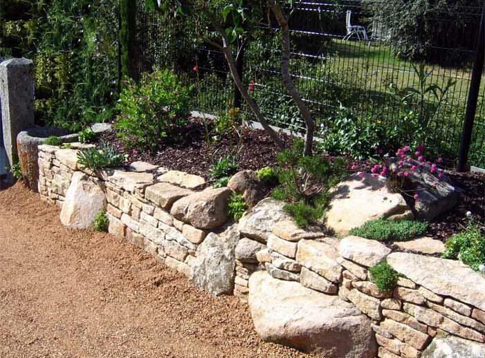 muret d pierres et roches