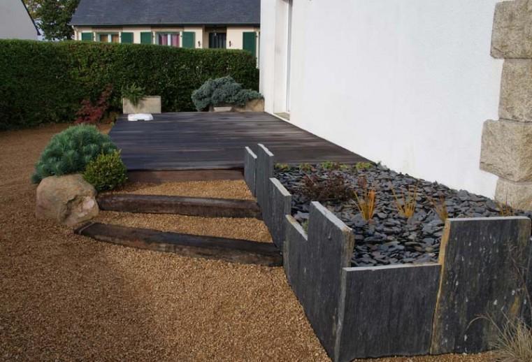 terrasse et aménagement contemporain