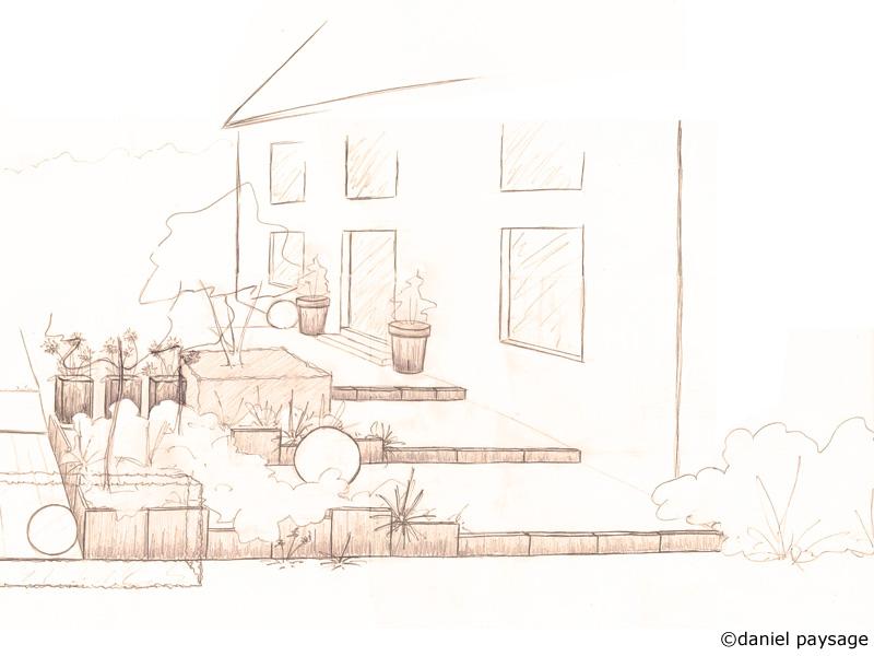 espace terrasse moderne