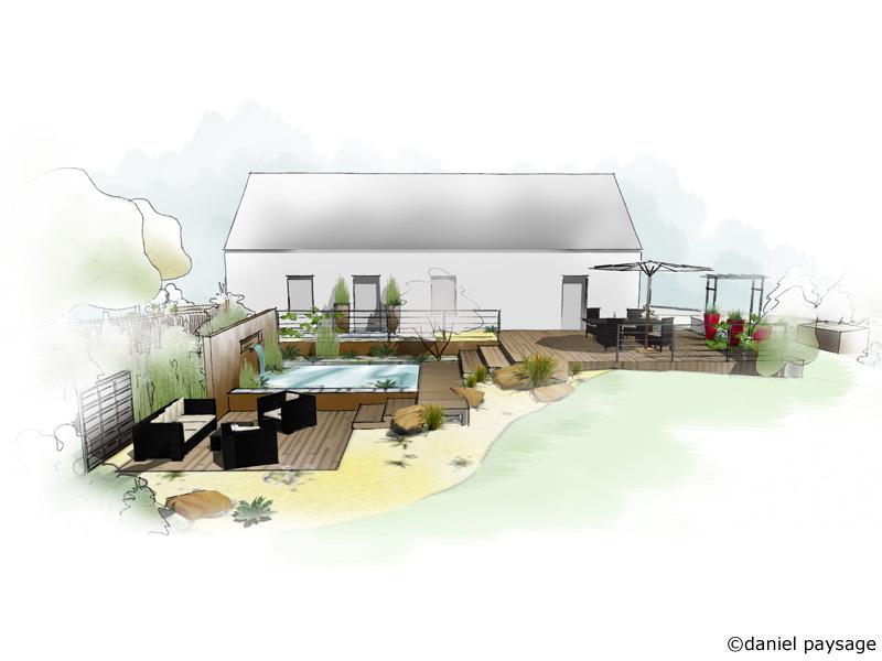 etude et conception de jardins daniel paysage. Black Bedroom Furniture Sets. Home Design Ideas