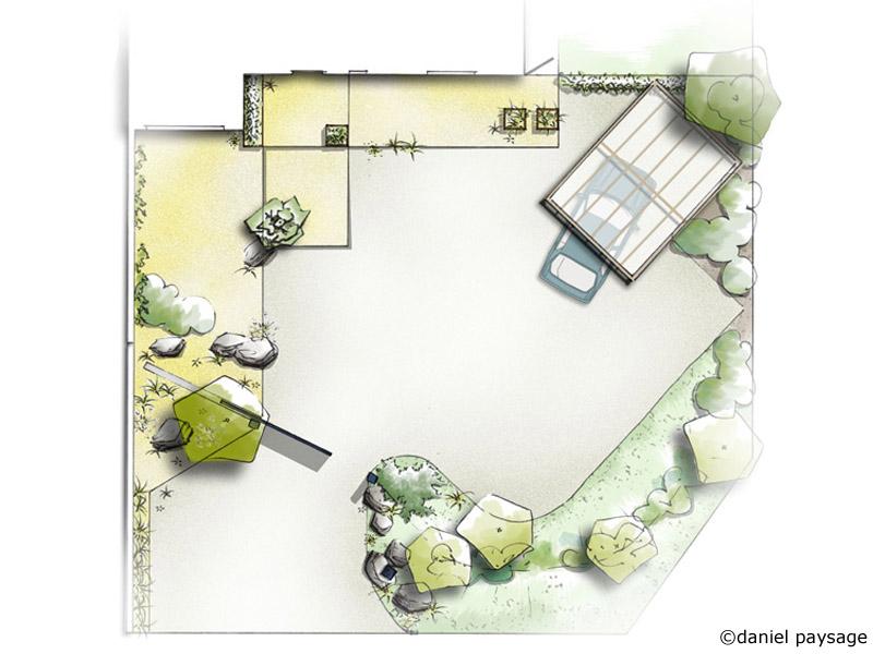 plan d'aménagement d'une entrée