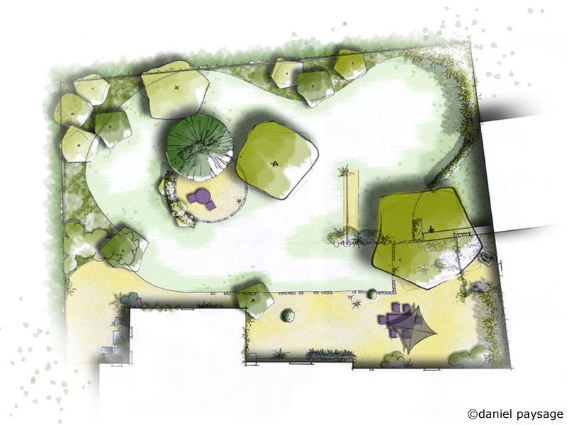 plan d'un jardin d'antan