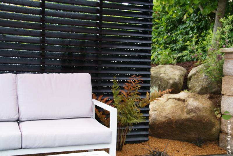 salon de jardin claustra palissade noire