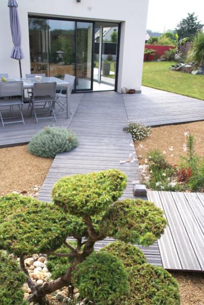 Paysage de la maison vers le jardin